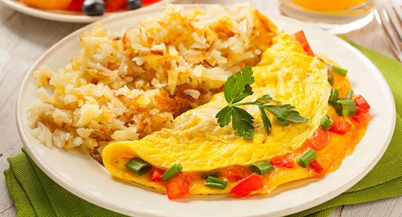 omelette hashbrowns