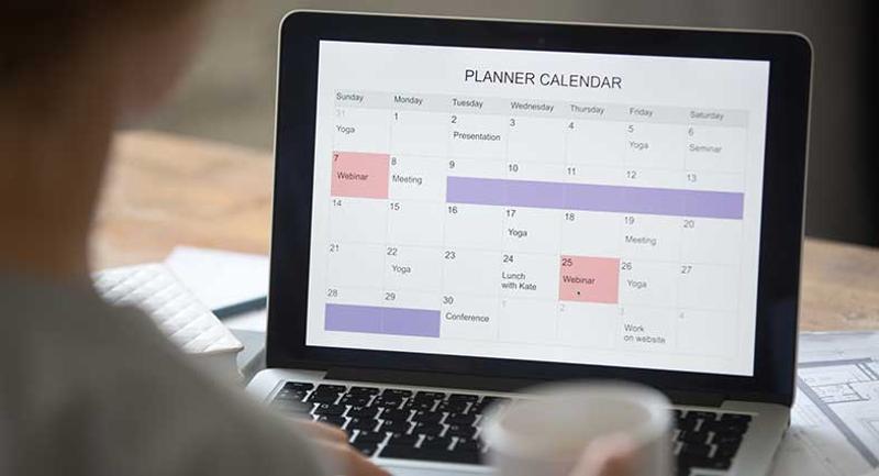planner calendar work computer