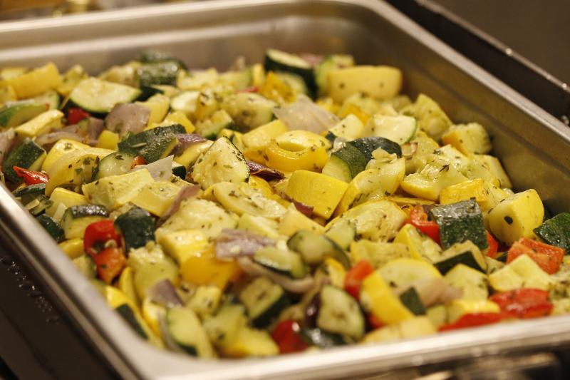 roasted veggies pan