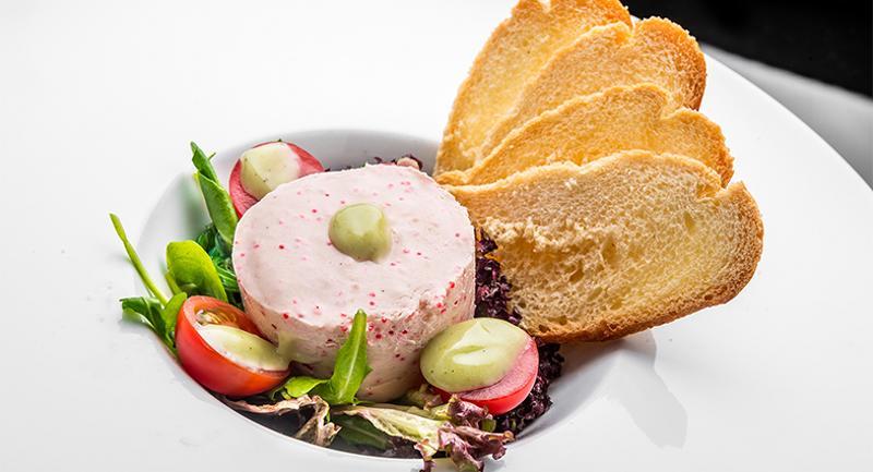 salmon cheese mousse
