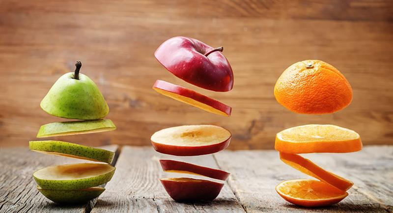sliced fruit lunch trays