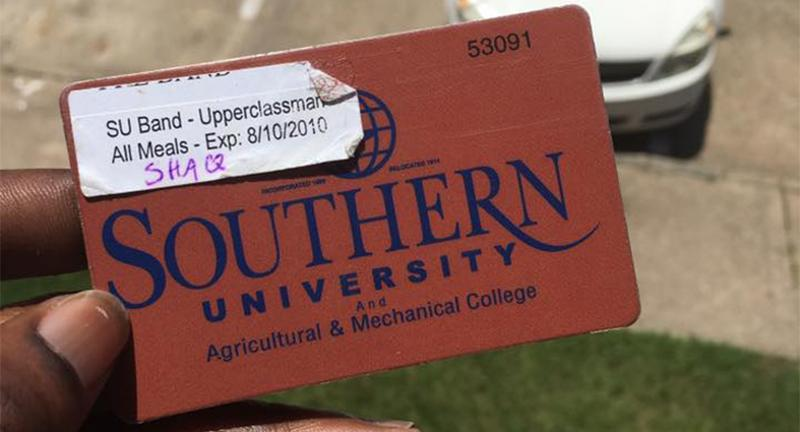 southern university meal card