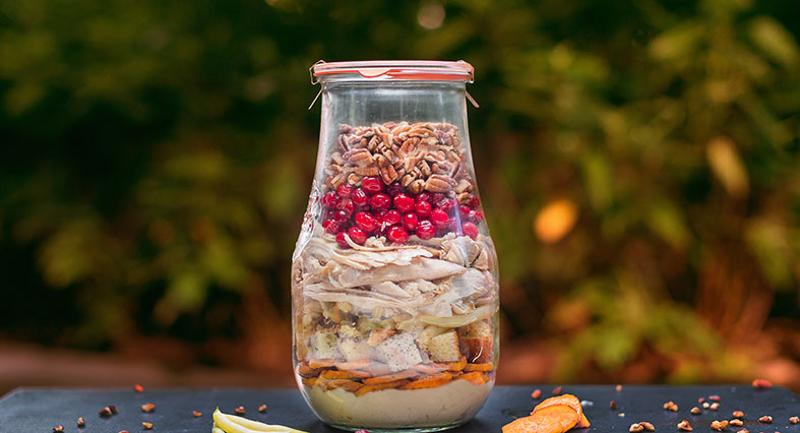 turkey dinner in a jar thanksgiving