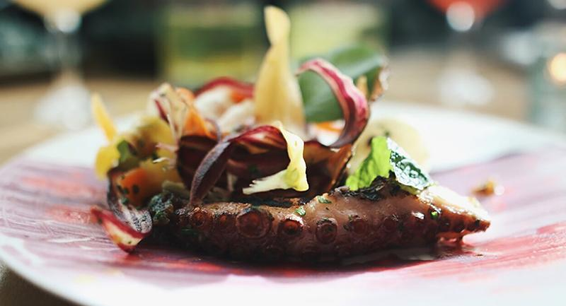 Octopus with Scotch Bonnet Sauce