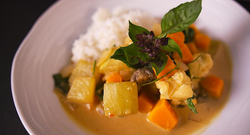 Massaman Curry with Watermelon Rind