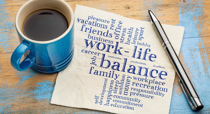 work life balance coffee pen