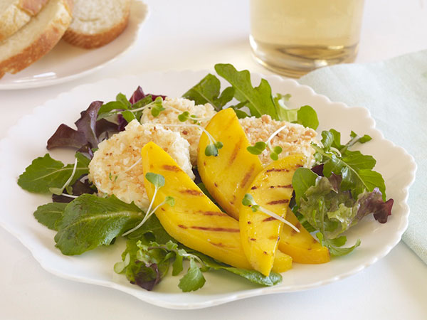 grilled mango goat cheese salad