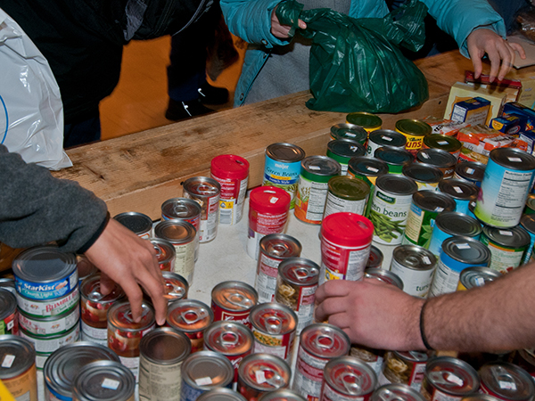 MSU food bank cans