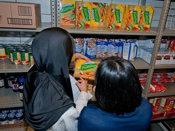 MSU food bank students