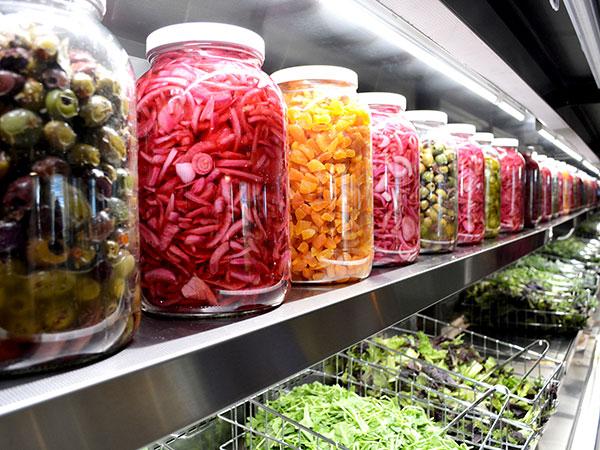 yale cafe med pickled vegetables