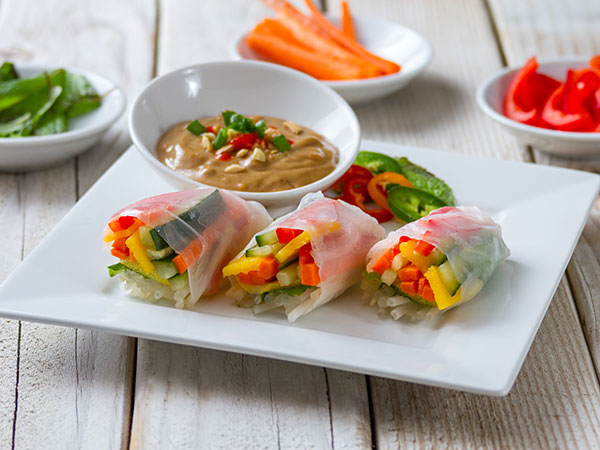 asian spring roll vegetables