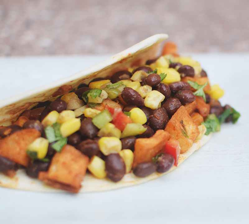 Sweet Potato Breakfast Tacos: Sweet Potato, Kale And Black Bean Breakfast Tacos