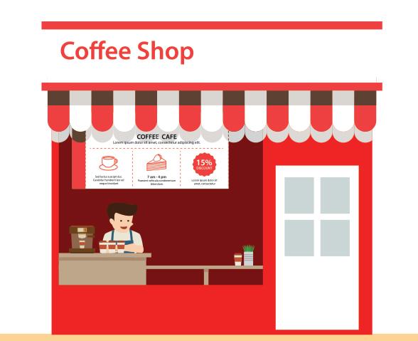 coffee shop kiosk graphic