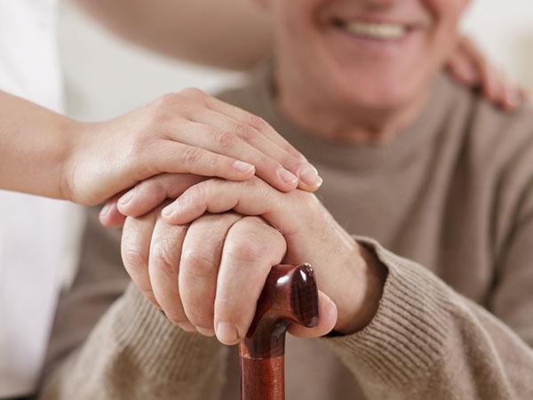 elderly old man care cane