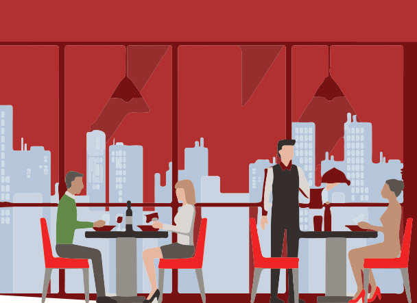 full service restaurant graphic