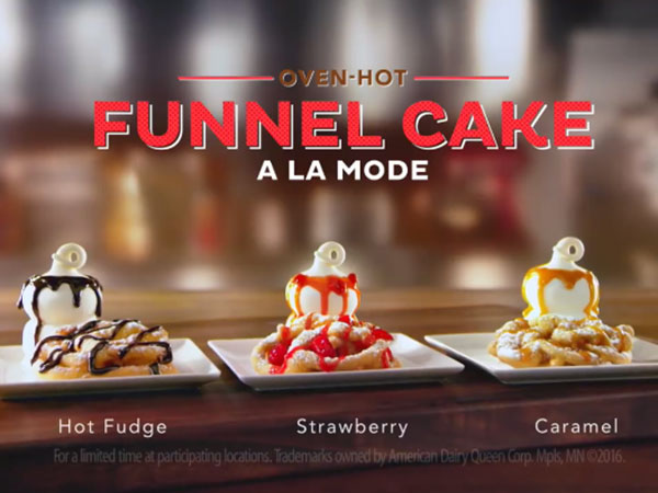 funnel cake sundae