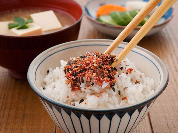furikake rice chopsticks
