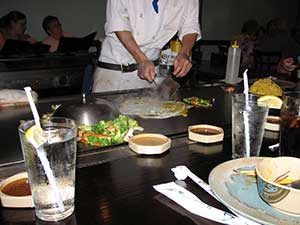 hibachi grill cooking