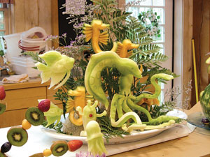 Cavin Sullivan, FSD of the Month, fruit carving