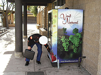 Transforming vending machines into dispensers of healthful products