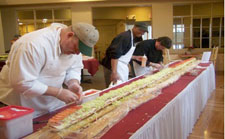 FoodService Director, Ridgecrest Restaurant, Riverwoods Campus, theme buffets, menu word searches