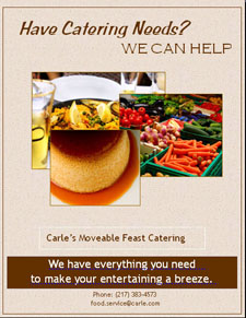FoodService Director, Carle Foundation Hospital, branding, Carle's Moveable Feasts