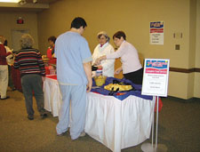 FoodService Director, Lincoln Health Center, tasting fair