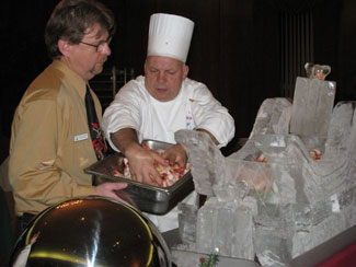 University of Dayton, Holiday Catering, ice sculptures