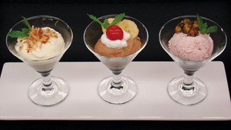 Menu Strategies, smaller portions, catering, desserts
