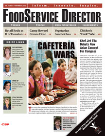 FoodService Director Magazine FoodService Director | November 2012 Issue