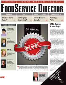 FoodService Director Magazine FoodService Director | January 2013 Issue