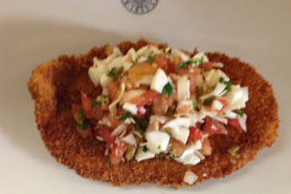 Chicken Schnitzel with Tomato Salsa - Recipedia