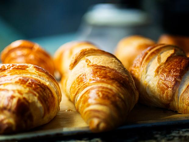 Croissants baking