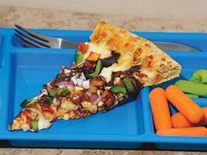 veggie balsamic pizza