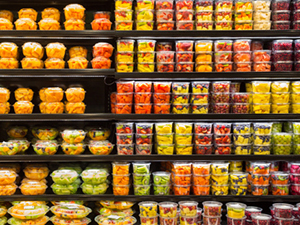 grab and go fruit display