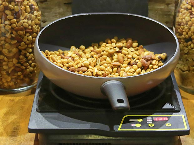 induction cooking nuts