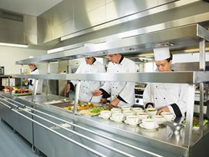 kitchen line cafeteria