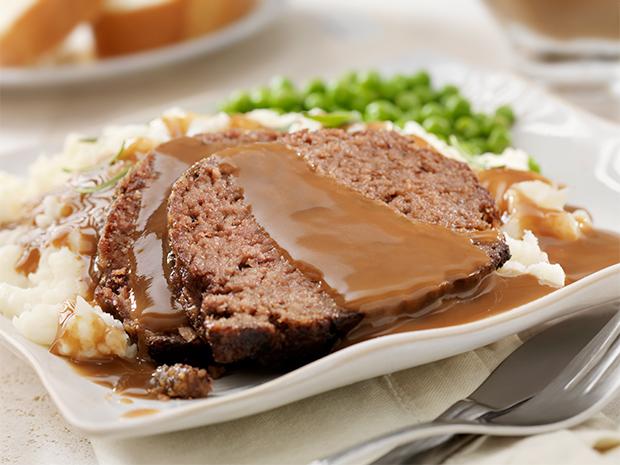 meatloaf slices plate