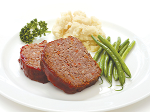 meatloaf veggies plate