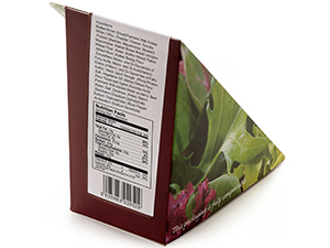 planglow packaging nutrition label
