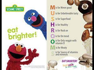 sodexo sesame street mushrooms