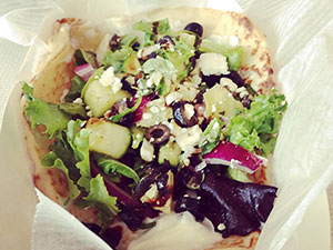 mediterranean naan salad