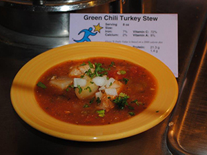 green chili turkey stew