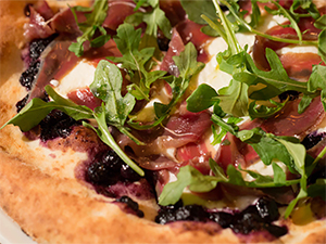 Pizza With Blueberry Chutney