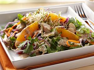 Tofu and Almond-Sesame Vinaigrette Salad