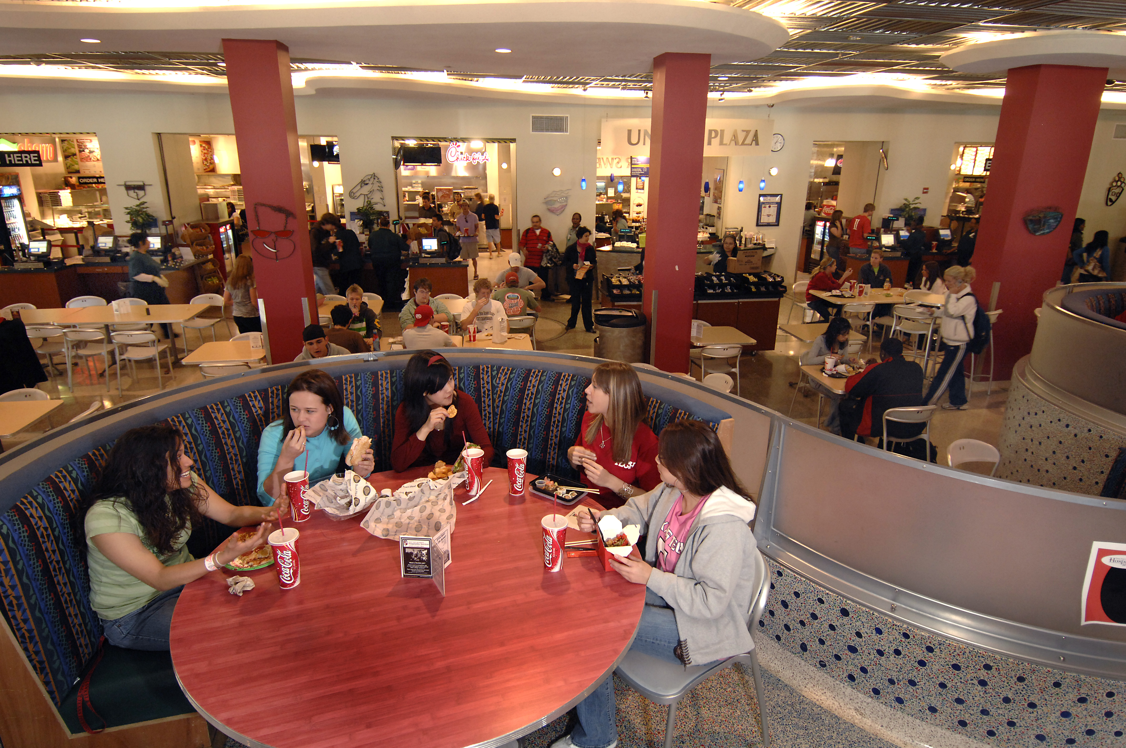 Retail food court at Texas Tech