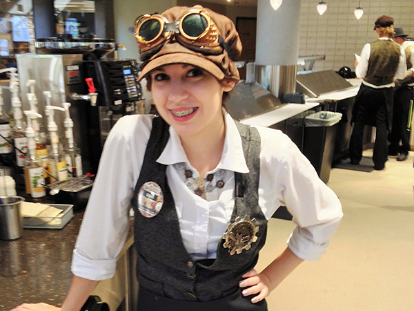 steam punk aviator girl