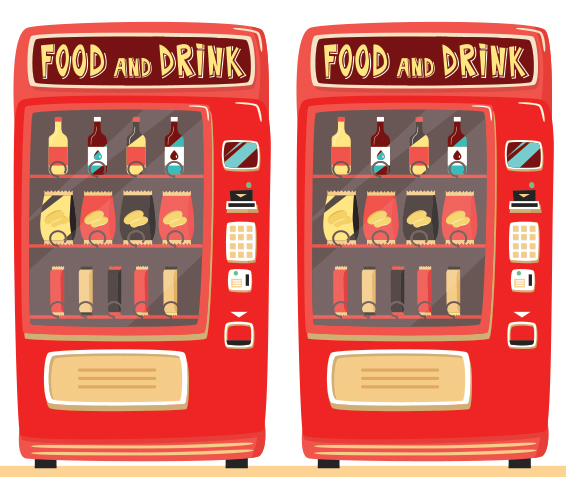 vending machines graphic