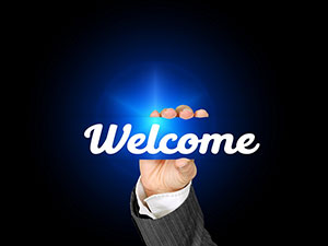welcome hand