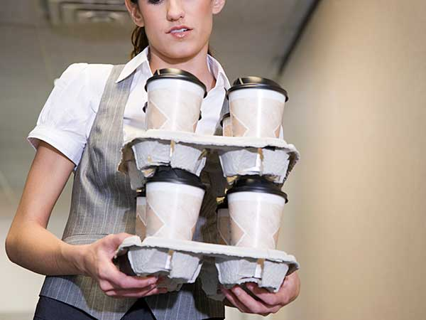 coffee delivery woman